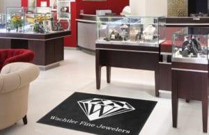 Jewerly Store Entrance Logo Rug
