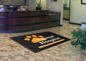 Animal Hospital Custom Welcome Mat