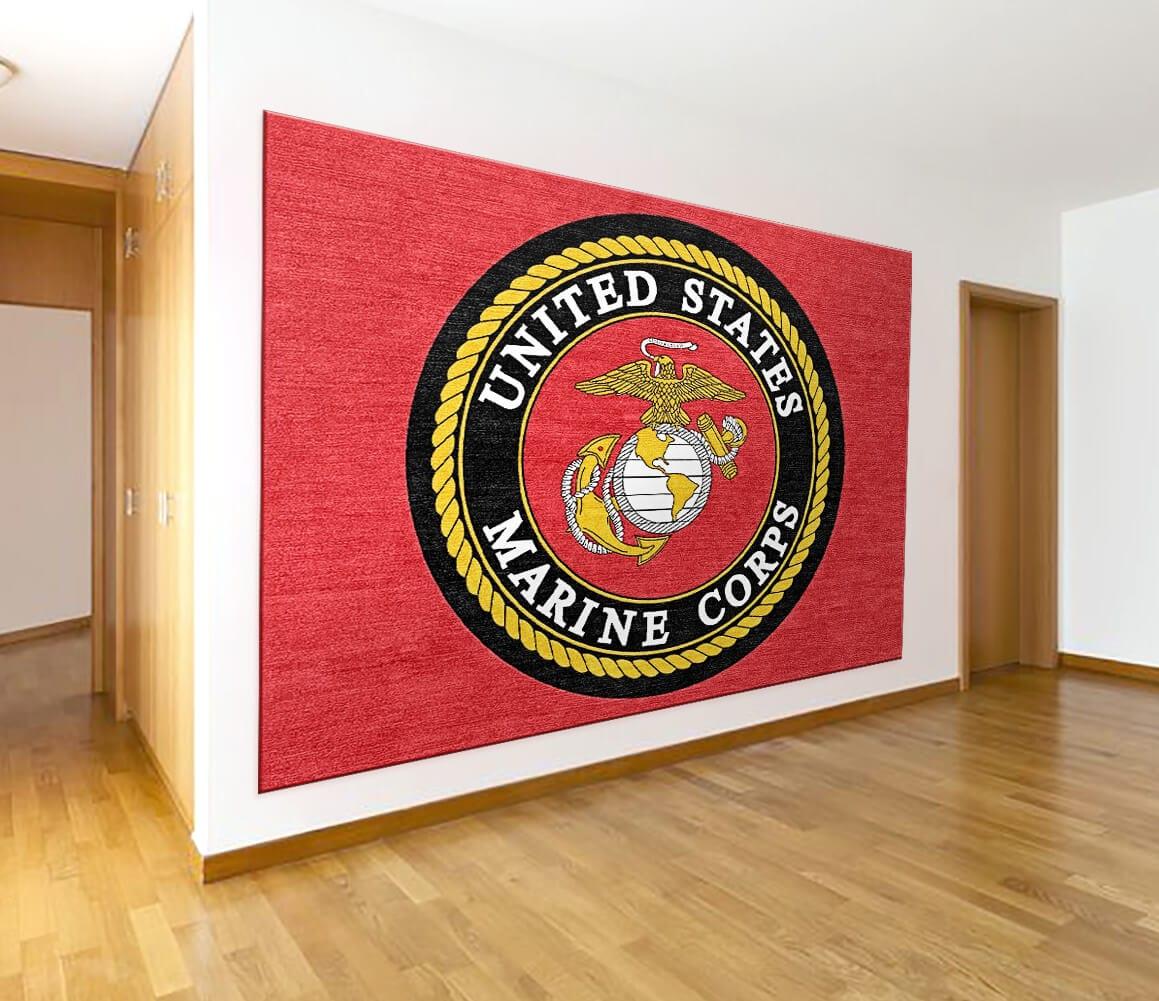 Buy Us Marine Corps Logo Rugs Online Rug Rats