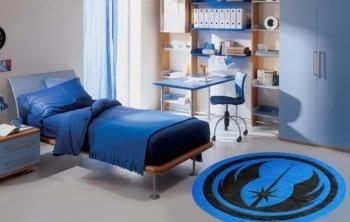 Jedi Round Logo Rug in Room